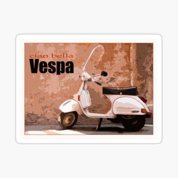 Vintage Vespa Poster Sticker
