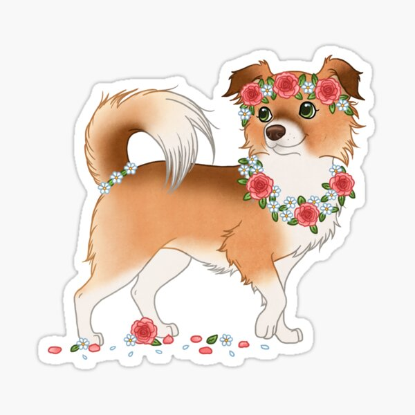 Penny Chiwowy chihuahua flowers girl cute chibi roses Sticker