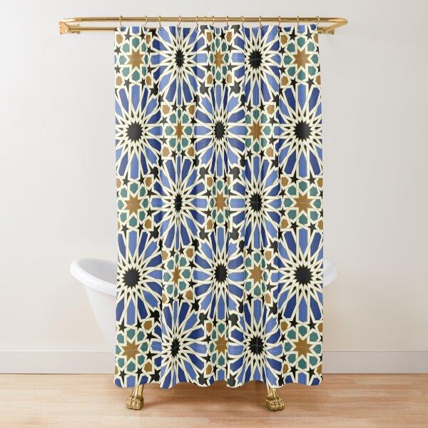 Arabic Tile I Shower Curtain