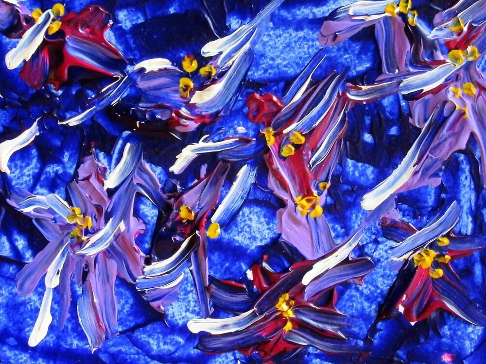 Blue Wildflower Design  by ShiningEyeArts
