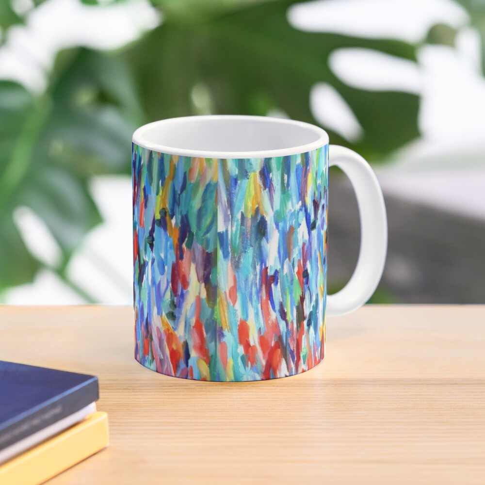 Blue in Bloom. Impressionist organic nature design. From painting by Pamela Parsons Mug