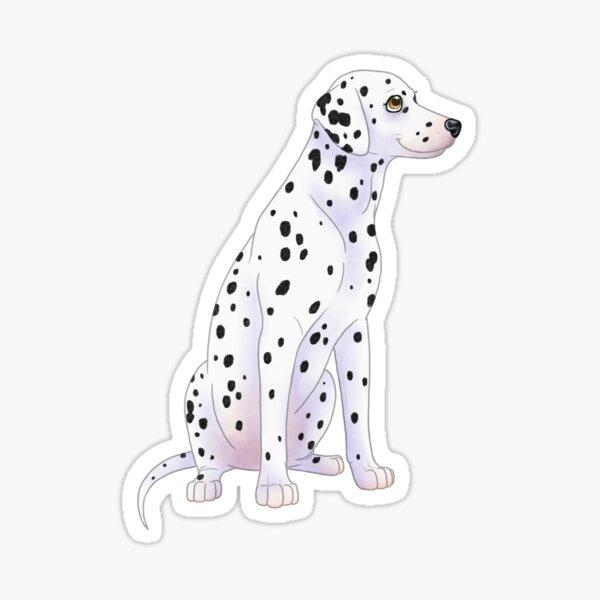 Dalmatian 101 cute dog puppy spots chibi Sticker