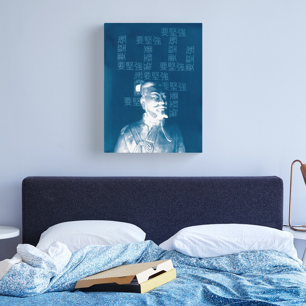 Be Strong Cyanotype Print Canvas Print