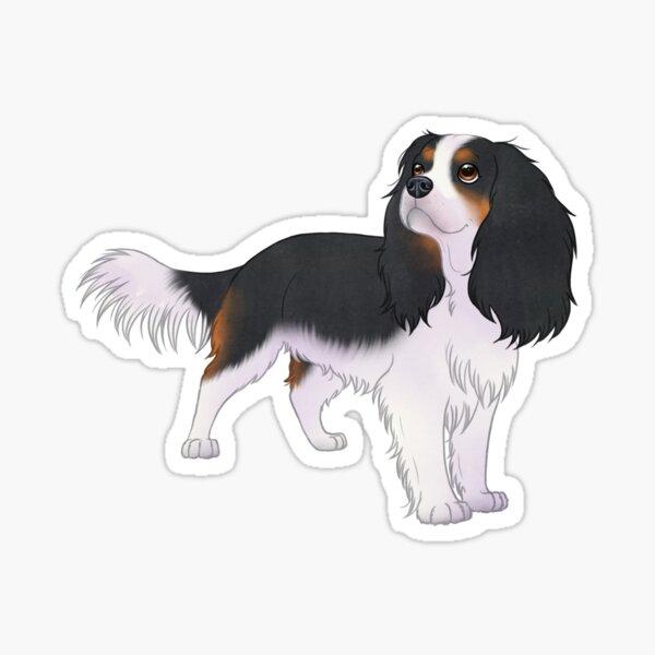 Cavalier king charles spaniel cute puppy dog  Sticker