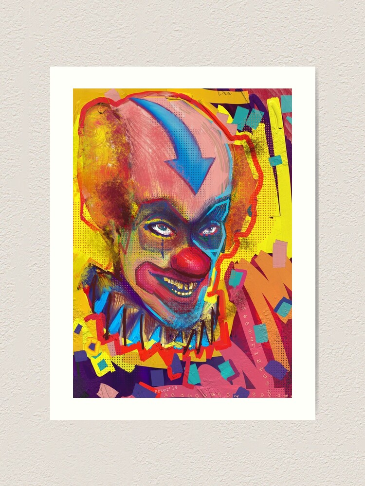 Alternate view of Clown Of Color Art Print