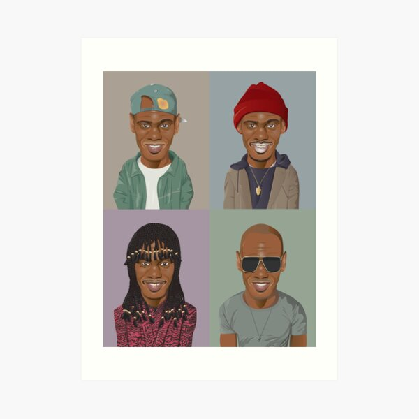 The Evolution of Dave Chappelle Art Print