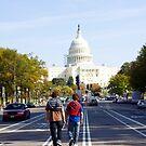 Walking to the Capitol, Washington DC by Ashlee Betteridge