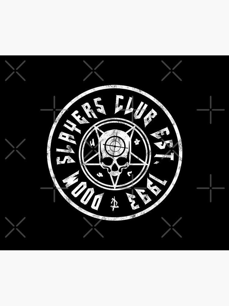 Doom Slayers Club | Doom Eternal Emblem | White Print by surik-