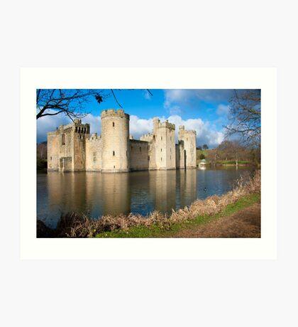 Bodium Castle: East Sussex, UK. Art Print