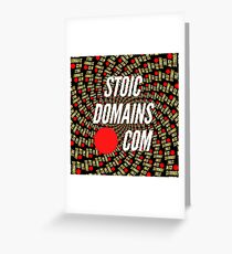 Stoic Domains - Com Greeting Card