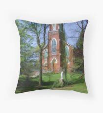 Historic St, Joseph's Catholic Church Throw Pillow