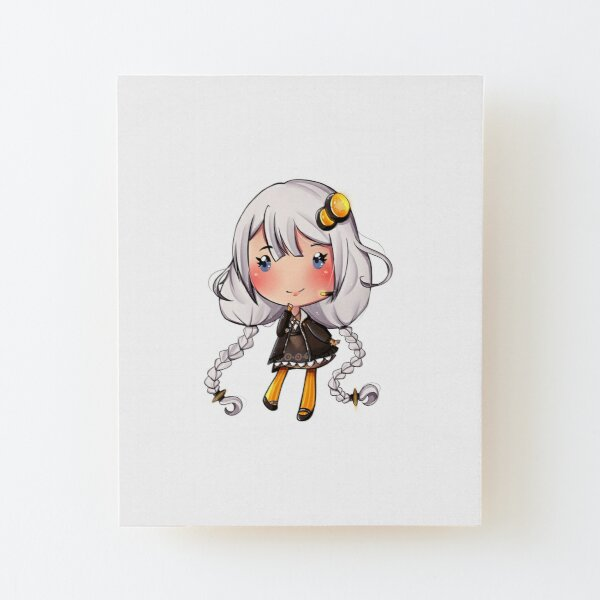 Chibi Kizuna Akari Wood Mounted Print