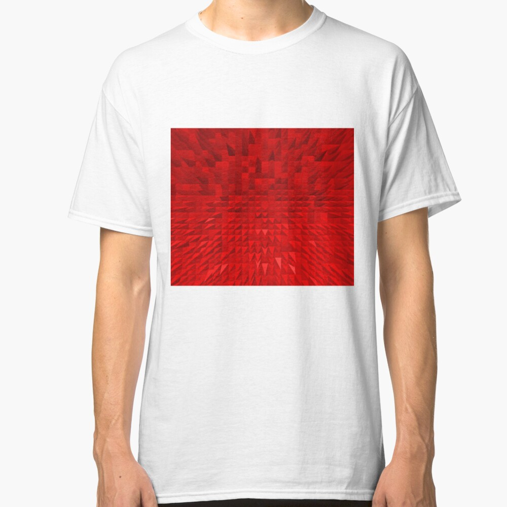 VISION OF THOUGHT ABSTRACT [1] RED [1] Classic T-Shirt