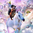 Cowboy Squirrel Riding Unicorn by SkylerJHill