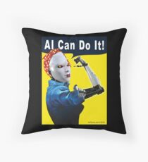 AI Can Do It Throw Pillow