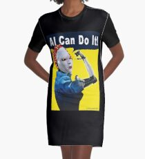 AI Can Do It Graphic T-Shirt Dress
