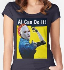 AI Can Do It Fitted Scoop T-Shirt