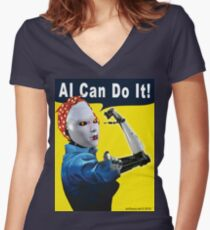 AI Can Do It Fitted V-Neck T-Shirt