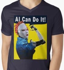 AI Can Do It V-Neck T-Shirt
