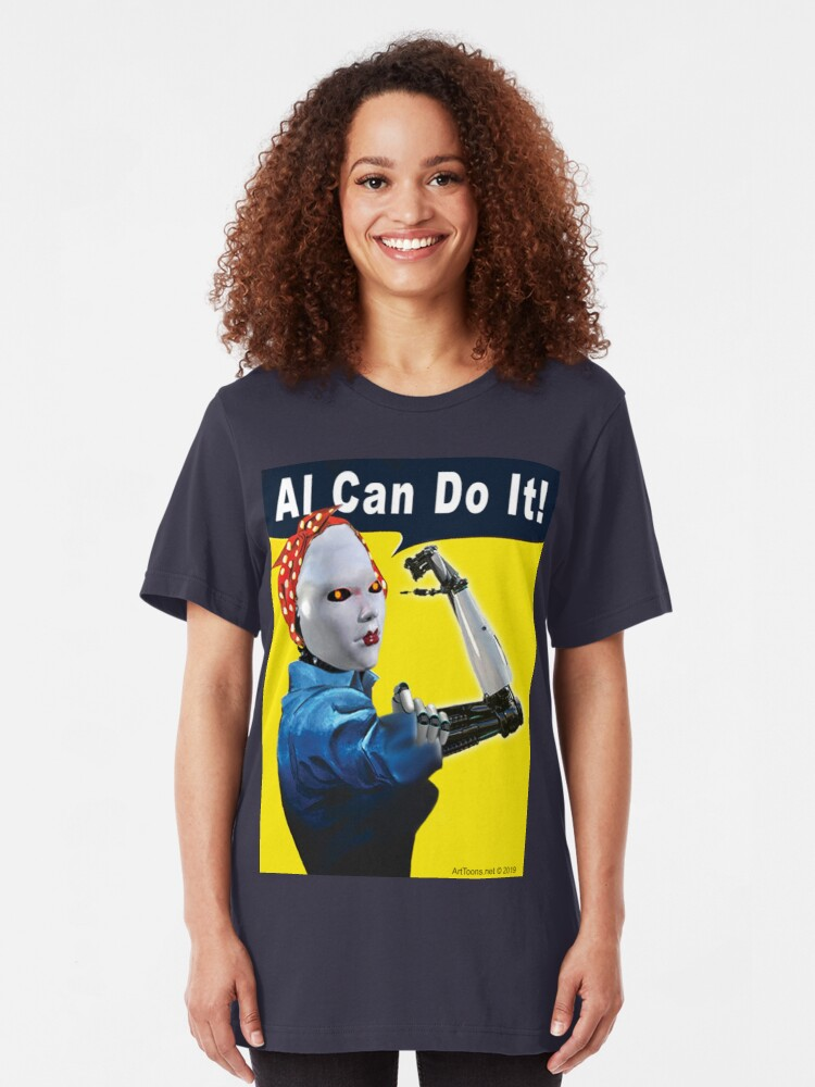 Alternate view of AI Can Do It Slim Fit T-Shirt