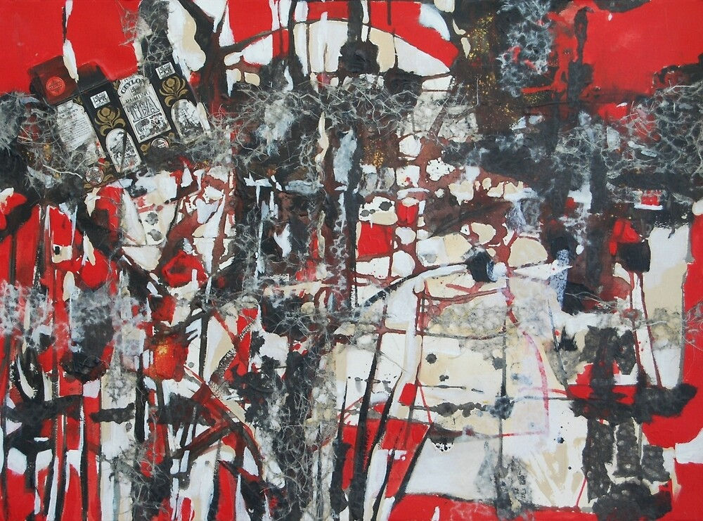 Tea Time Abstraction by Gwen Meharg