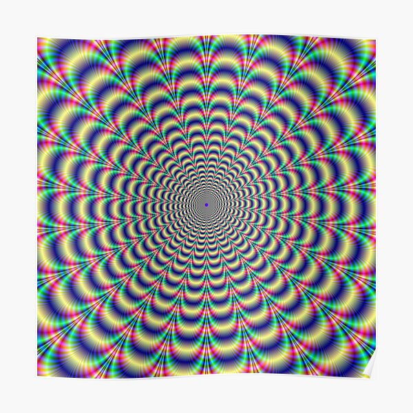 Psychedelic Pulse Poster