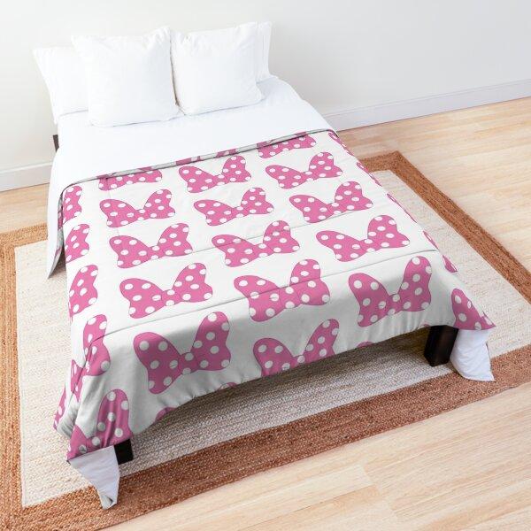 Polka Dot Bow - Pink Comforter