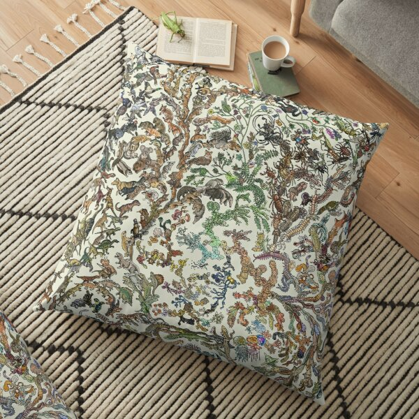Tree of Life Poster - Animal Evolution - Colour Floor Pillow