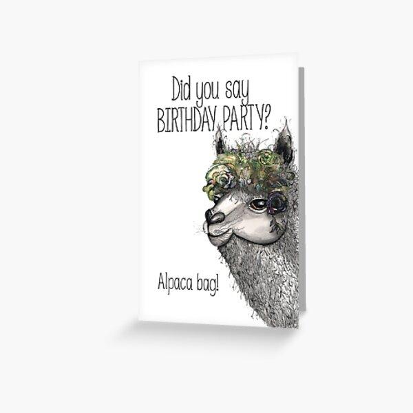 Alpaca bag Greeting Card