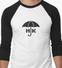 Hong Kong - Black Baseball ¾ Sleeve T-Shirt