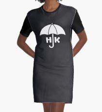 Hong Kong - White Graphic T-Shirt Dress