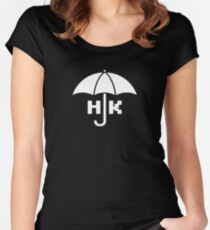 Hong Kong - White Fitted Scoop T-Shirt