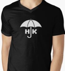 Hong Kong - White V-Neck T-Shirt