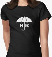 Hong Kong - White Fitted T-Shirt