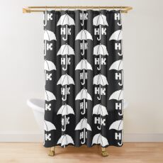 Hong Kong - White Shower Curtain