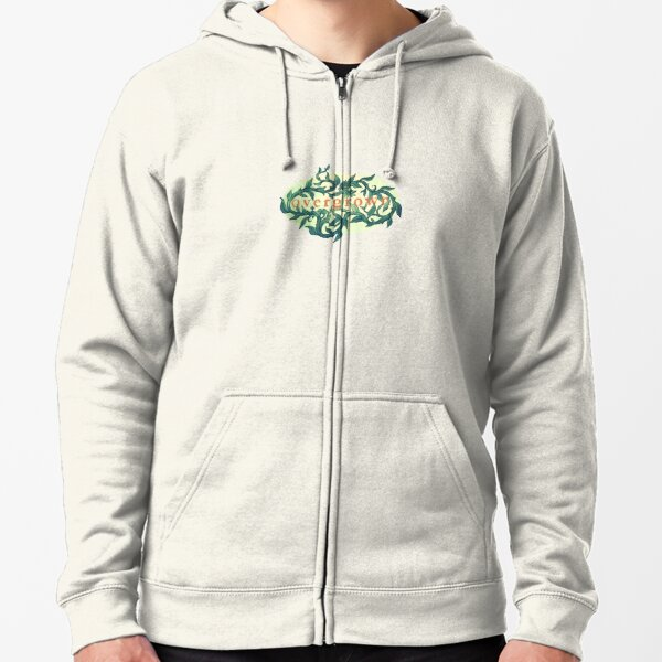 Overgrown Logo Zipped Hoodie