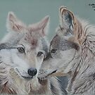 """Wolves  """"Soul mates"""" by cathyscreations"""