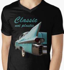 Classic _  not plastic Men's V-Neck T-Shirt
