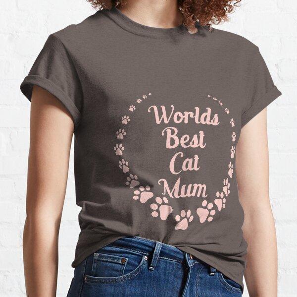 World's Best Cat Mum (pink text) Classic T-Shirt