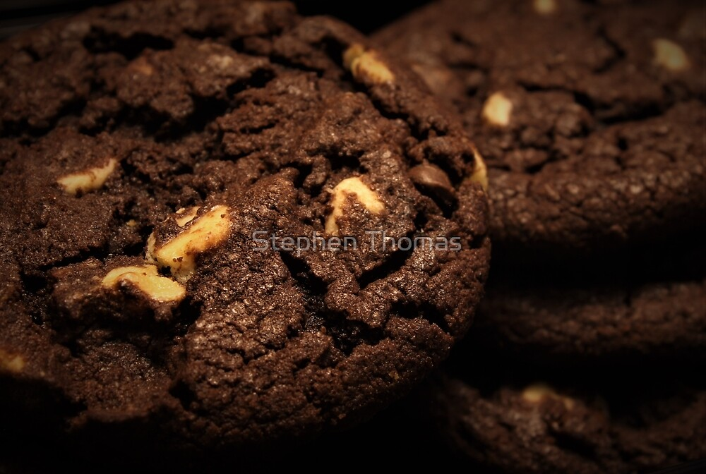 Double Chocolate Cookies Macro by Stephen Thomas