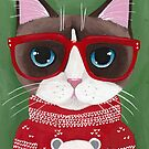 Nimbus Kitty's Ugly Christmas Sweater by Ryan Conners