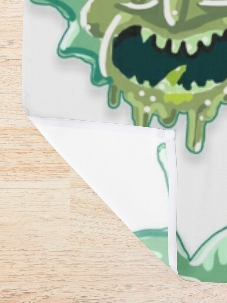 Alternate view of Toxic Rick aka Gunk Rick from Rick and Morty™ Shower Curtain
