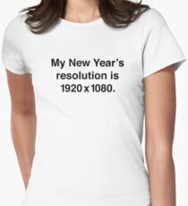 My New Year's Resolution Womens Fitted T-Shirt