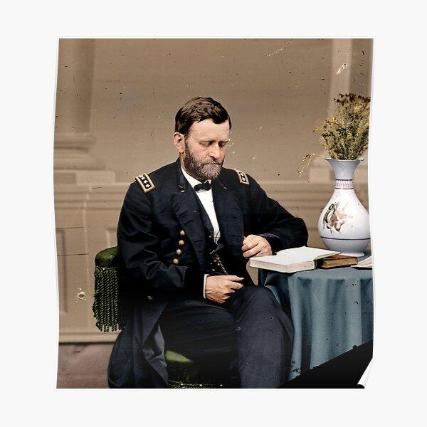 Ulysses S. Grant Reading Poster