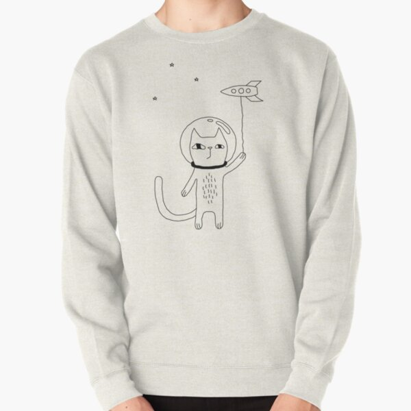 Space Cat Pullover Sweatshirt
