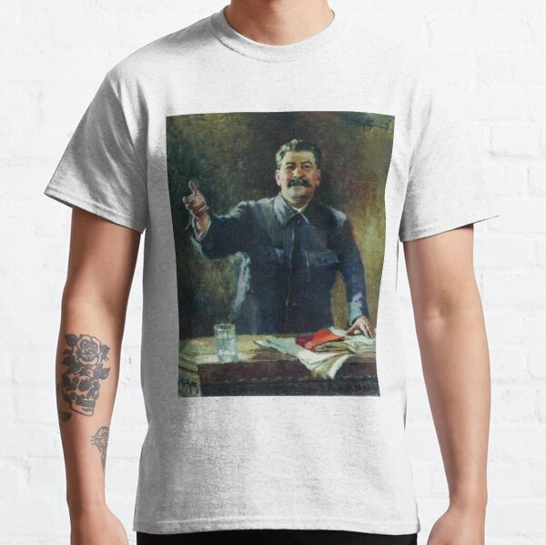 Political Poster, Художник Александр Герасимов Aleksandr Mikhaylovich Gerasimov was a leading proponent of Socialist Realism in the visual arts, and painted Joseph Stalin and other Soviet leaders. Classic T-Shirt