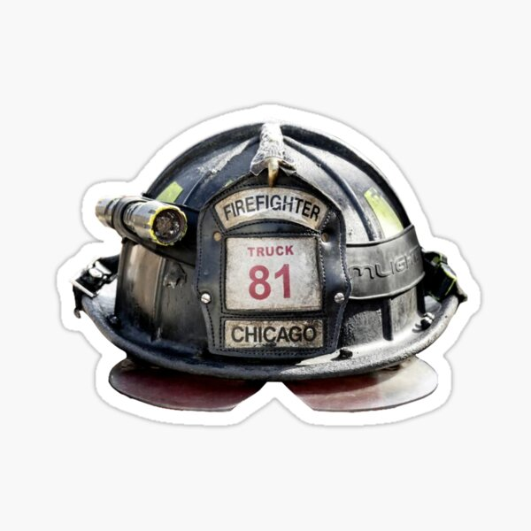 CHICAGO FIRE HELMET - TRUCK 81 Sticker