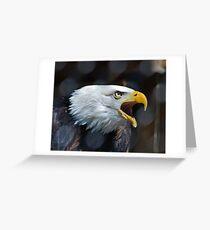 Screaming Bald Eagle Greeting Card