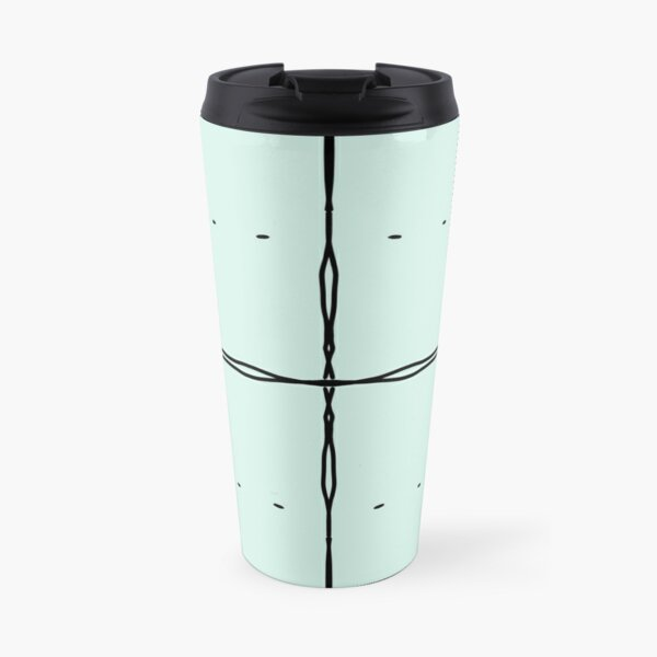 Graph Paper - Large Aqua Travel Mug