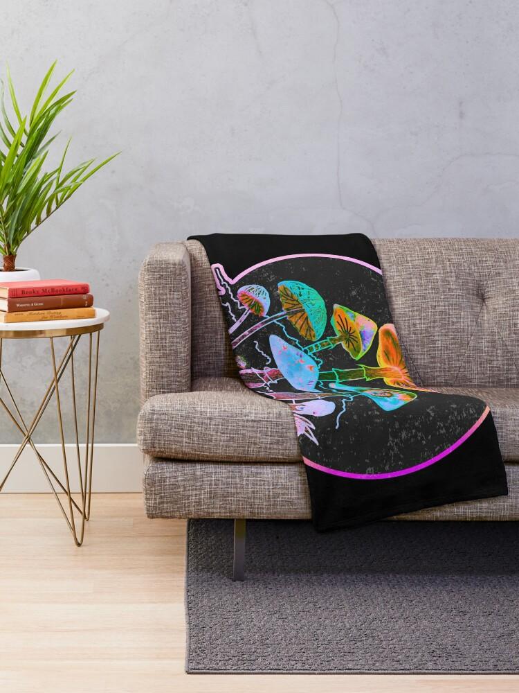 Alternate view of Garden of Shrooms 2020 Throw Blanket